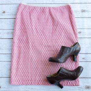 Talbots Pink Cream Starfish Eyelet Skirt - Sz 6